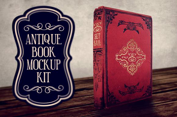 Antique Book Mockup Kit