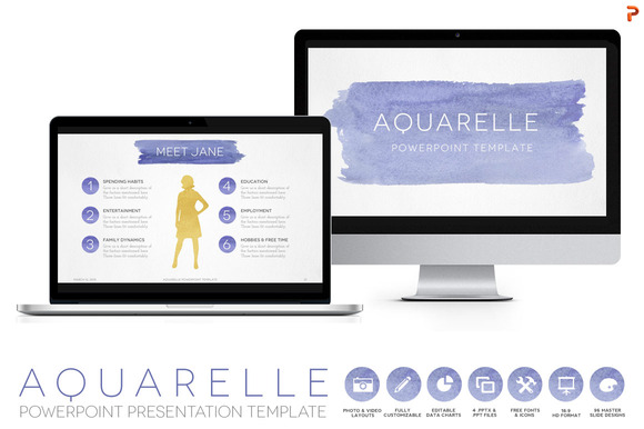 Aquarelle Powerpoint Template