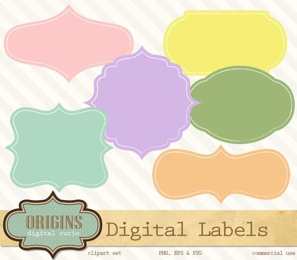 Fancy Digital Labels Clipart