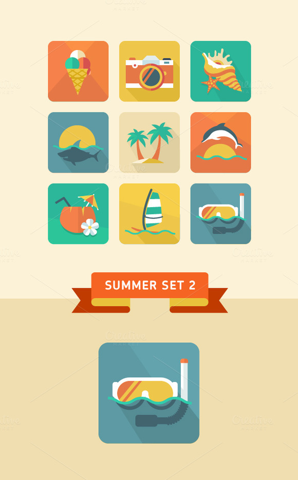 Summer Icon Set 2