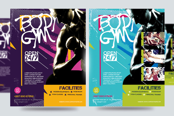 Fitness Flyer Gym Flyer V8