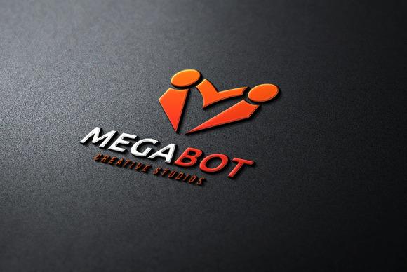 M Letter Logo Mega Bot