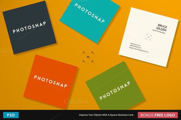 PhotoSnap Business Card Square