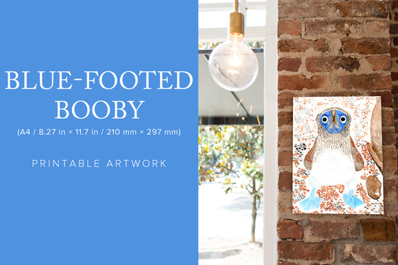 Blue-Footed Booby Printable Artwork