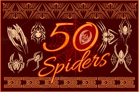 50 Spiders Design