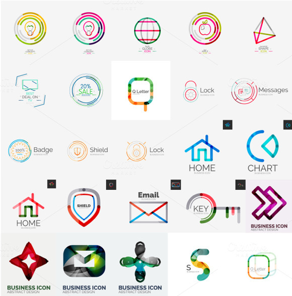 Abstract Technology Logos