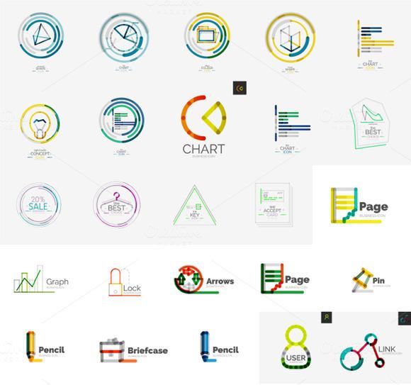 Thin Line Company Logos