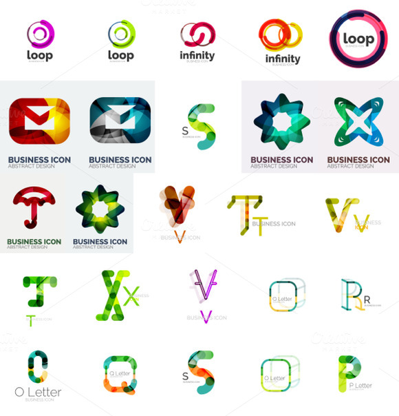 Abstract Business Logos And Icons