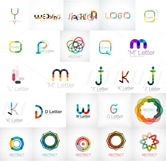 Lettering Logo Set