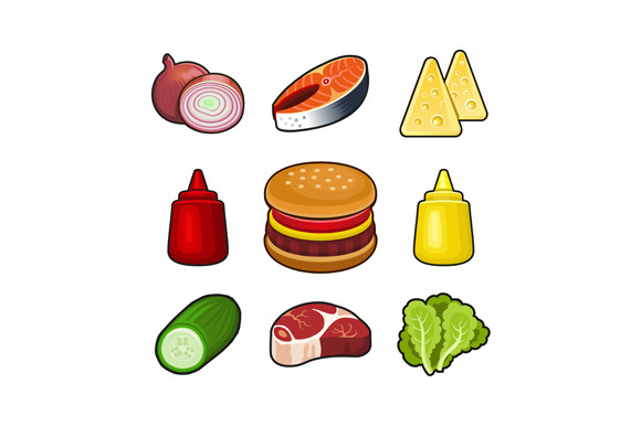 27 Food Icons Set