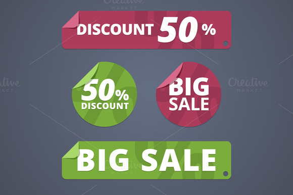Sale And Discount Stickers