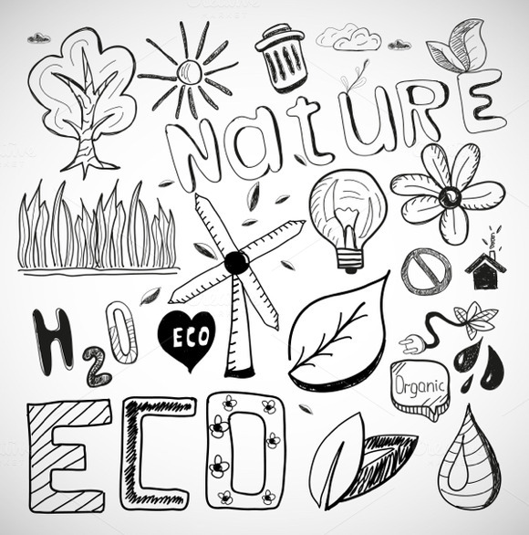 Vector Nature Doodles