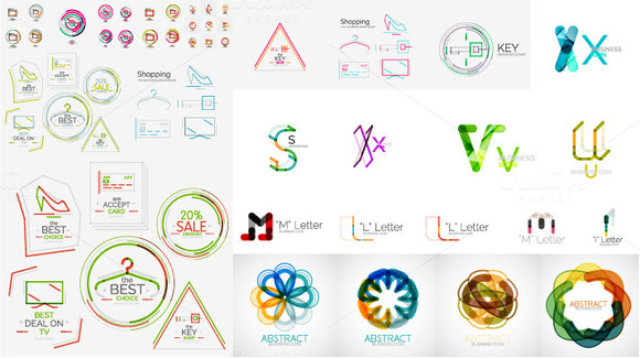 Abstract Technology Icons Set