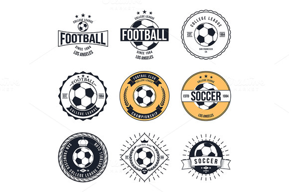 Soccer Football Typography Badge