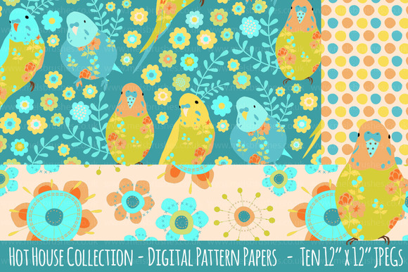 Hot House Pattern Background Papers