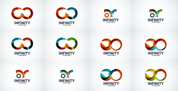 Infinity Company Logo Icon Set