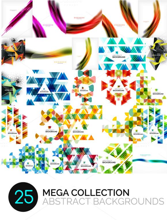 25 Abstract Background Mega Set