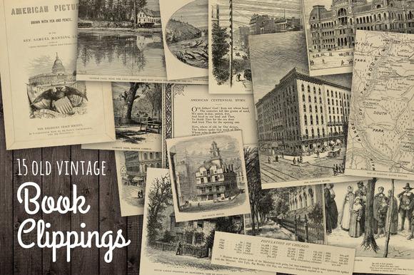 Vintage American Book Renderings