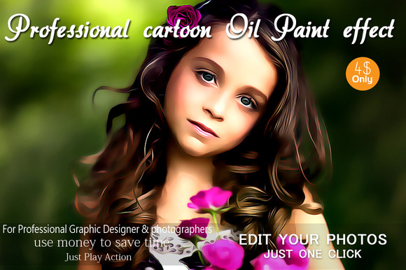 Professional Cartoon Oil Paint Effec