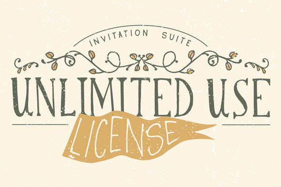 Unlimited License Invitation Suites