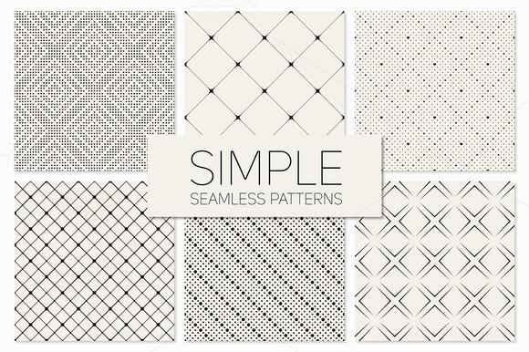 Simple Seamless Patterns Set 2