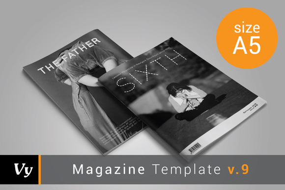 A5 Sixth Magazine Template