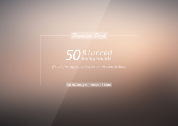 50 Hi-Res Natural Blurred Background