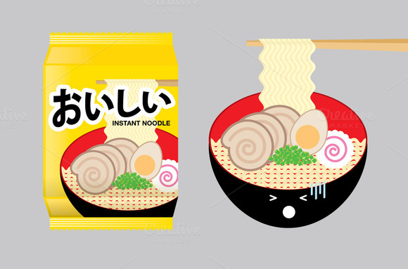 Ramen Instant Noodle Illustration