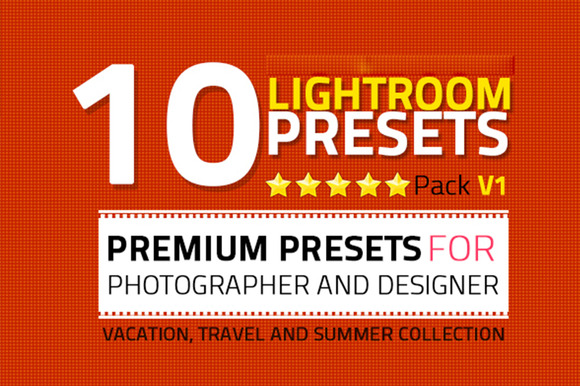 10 Lightroom Presets Pack