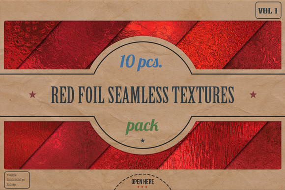 Red Foil HD Textures Pack V.1