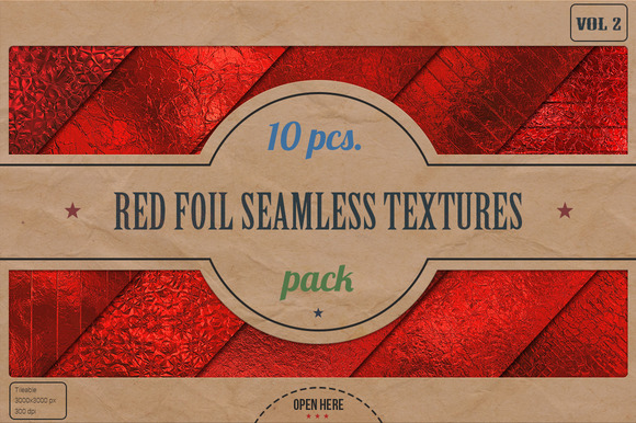 Red Foil HD Textures Pack V.2