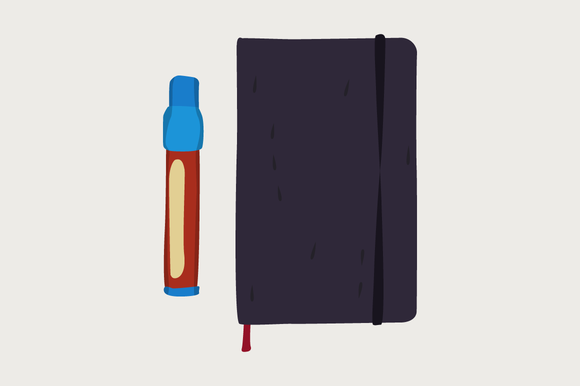 Pen Moleskin Vector Illustration