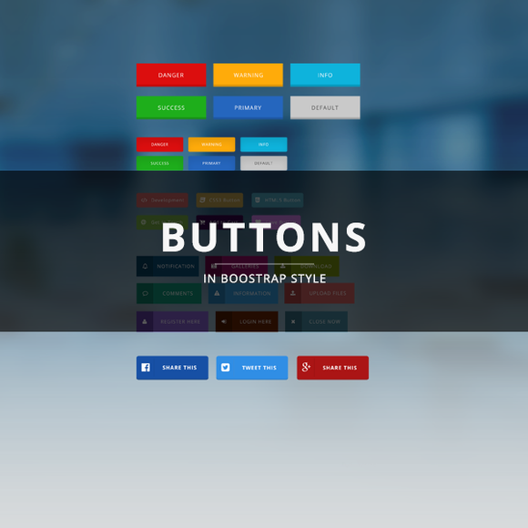 Web Buttons In Bootstrap Style