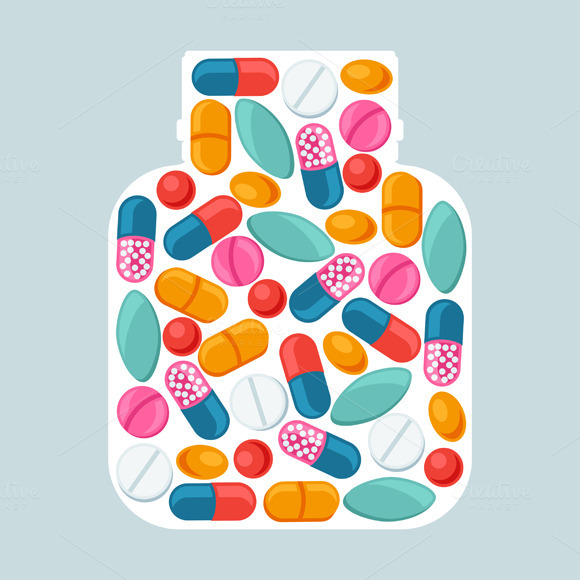 Backgrounds With Pills And Capsules
