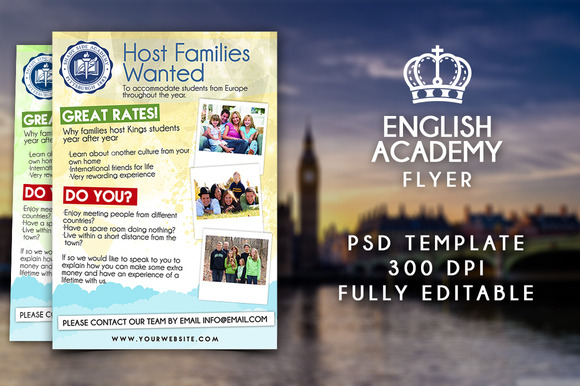 English Academy Flyer