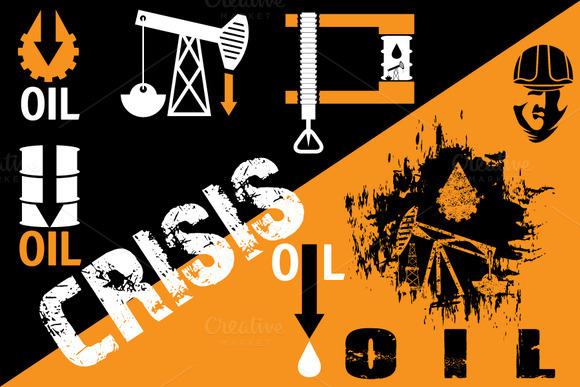Crisis Oil Illustration