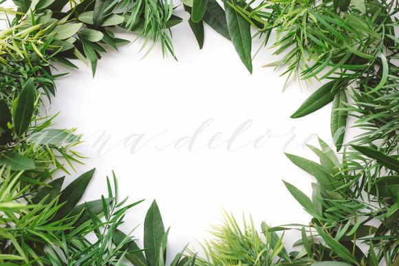 Styled Stock Photo Green Wreath