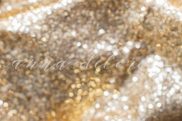 Gold Sequins Glitter Background