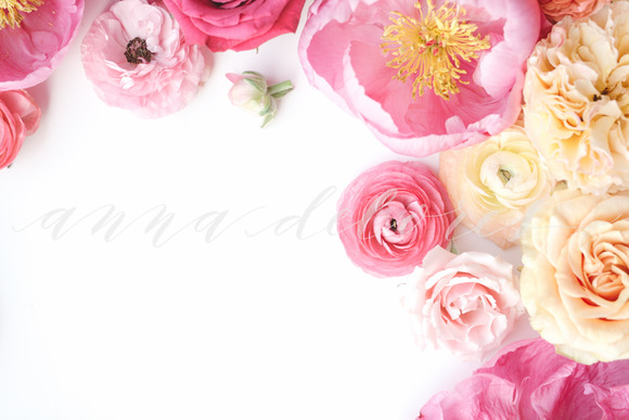 Styled Stock Photo Pink Flowers 7