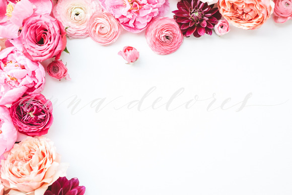 Styled Stock Photo Pink Flowers 8