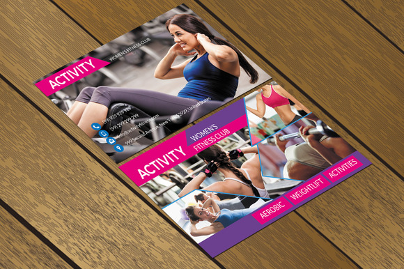 CT087 Fitness Club Business Card