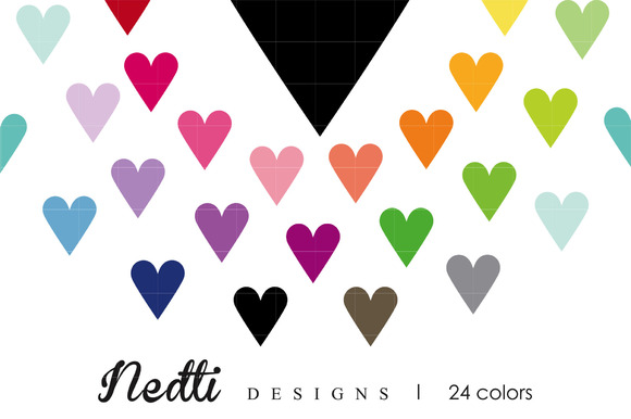 Heart Clipart Vector Rainbow Colors