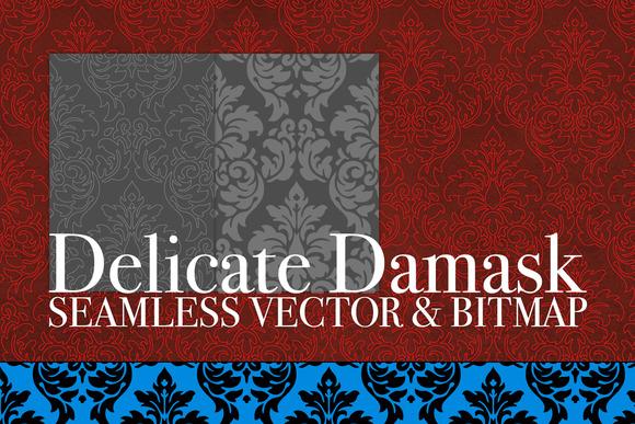 Vector Bitmap Damask Seamless Tiles