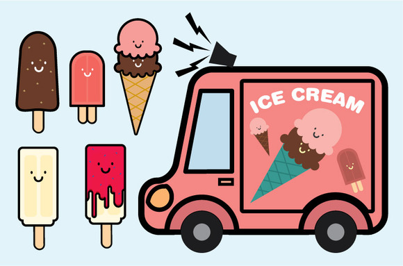 Ice Cream People Vector