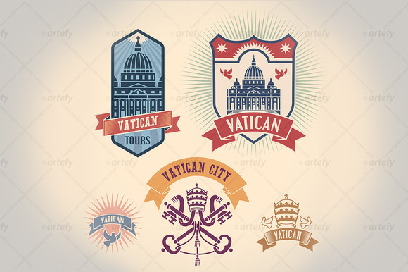 Vatican Tour Labels