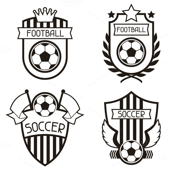 Set Of Soccer Labels