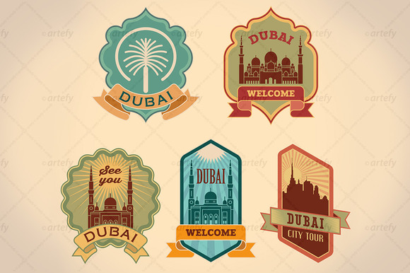 Dubai City Tour Labels