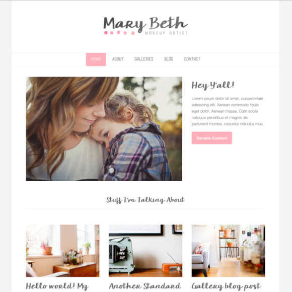 Wordpress Theme Mary Beth