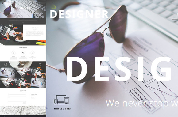 Designer One Page Template HTML