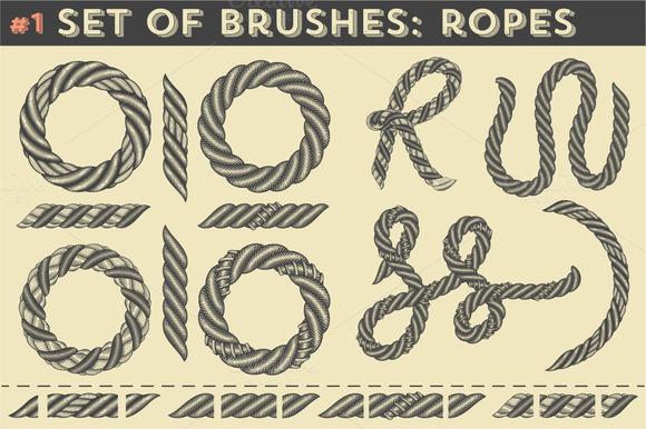 Set Of Brushes #1 Ropes